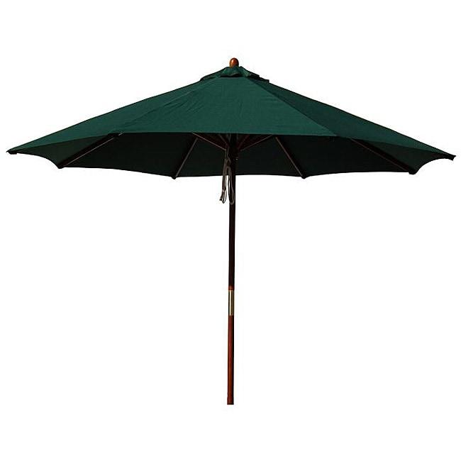 Lauren & Company Hardwood 9-foot Hunter Green Patio Umbrella