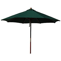 Lauren & Company Hardwood 9-foot Hunter Green Patio Umbrella