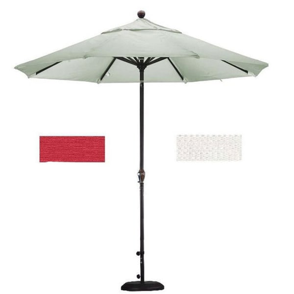 Lauren Company Premium Woven Olefin 9 Foot Patio Umbrella With Stand Free Shipping Today 4118825