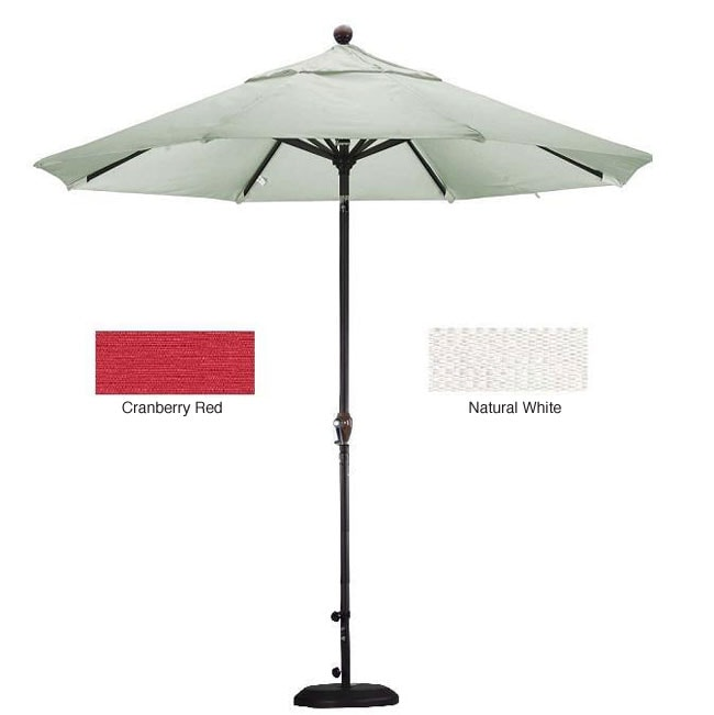 Lauren U0026amp; Company Premium Woven Olefin 9 Foot Patio Umbrella With Stand