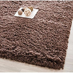Safavieh Classic Plush Handmade Super Dense Chocolate Brown Shag Rug (3' x 5')