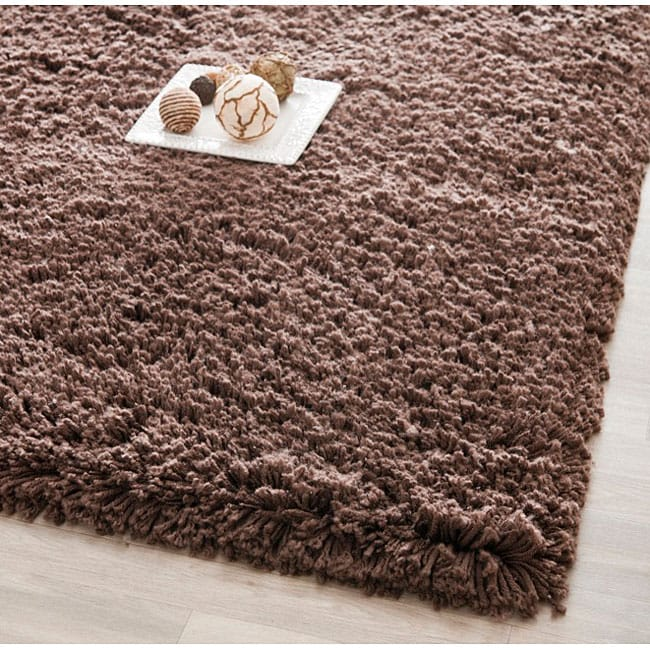Safavieh Classic Plush Handmade Super Dense Chocolate Brown Shag Rug - 8'6 x 11'6