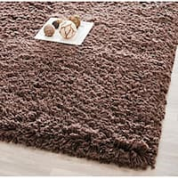 Safavieh Classic Plush Handmade Super Dense Chocolate Brown Shag Rug (8'6 x 11'6)
