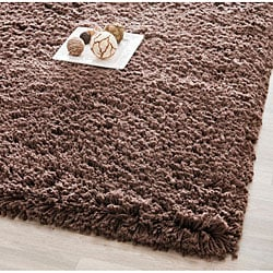 Safavieh Classic Plush Handmade Super Dense Chocolate Brown Shag Rug - 7'6 x 9'6 - Thumbnail 0