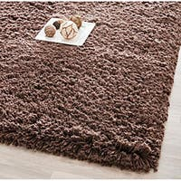 "Safavieh Classic Plush Handmade Super Dense Chocolate Brown Shag Rug - 7'6"" x 9'6"""