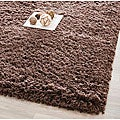 Safavieh Classic Plush Handmade Super Dense Chocolate Brown Shag Rug - 7'6 x 9'6