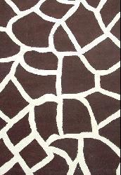 Hand-tufted Giraffe Wool Rug (6' x 9')