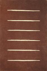 Hand-tufted Steps Wool Rug (6' x 9')