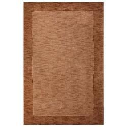 Hand-tufted Bordered Beige Wool Rug (6' x 9')