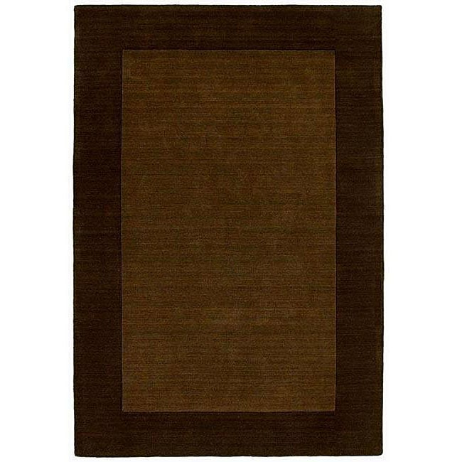Hand-tufted Bordered Wool Coffee Rug (6' x 9')