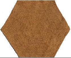 Hand-tufted Braided Jute Star Rug (6' Hexagon)