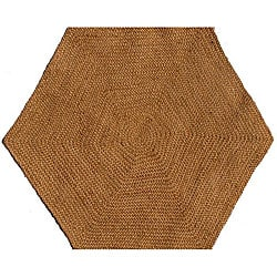 Hand-tufted Braided Jute Star Rug (6' Hexagon)
