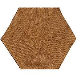 Hand Tufted Braided Jute Star Rug 6 Hexagon