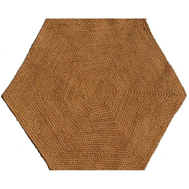 Hand-tufted Braided Jute Star Rug (8' Hexagon)