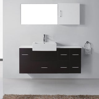 Virtu USA Hazel 56-inch Single Sink Bathroom Vanity Set