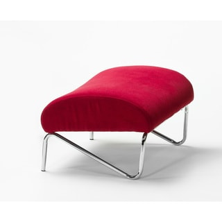 Easy Rider Red Microdenier Ottoman