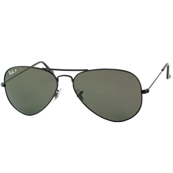 bdc676d8ac58c Shop Ray-Ban RB3025 Aviator Unisex Emerald Polarized Lens Sunglasses ...