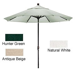 Lauren & Company Premium Woven Olefin 9-foot Dark Bronze Aluminum Patio Umbrella