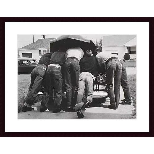 A. Owen 'Boys with Their First Car, 1957' Wood Framed Art Print
