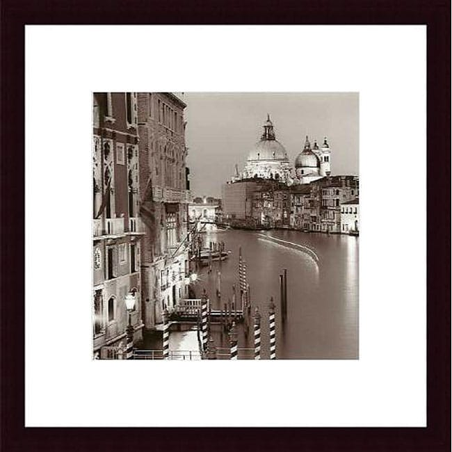 Alan Blaustein 'Ponte Accademia' Wood Framed Art Print