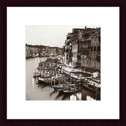 Alan Blaustein 'Ponte di Rialto' Wood Framed Art Print