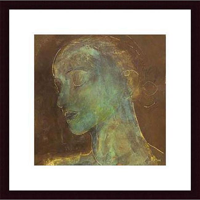 Axton 'Countenance II' Wood Framed Art Print