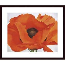 Georgia Okeefe 'Red Poppy' Wood Framed Art Print