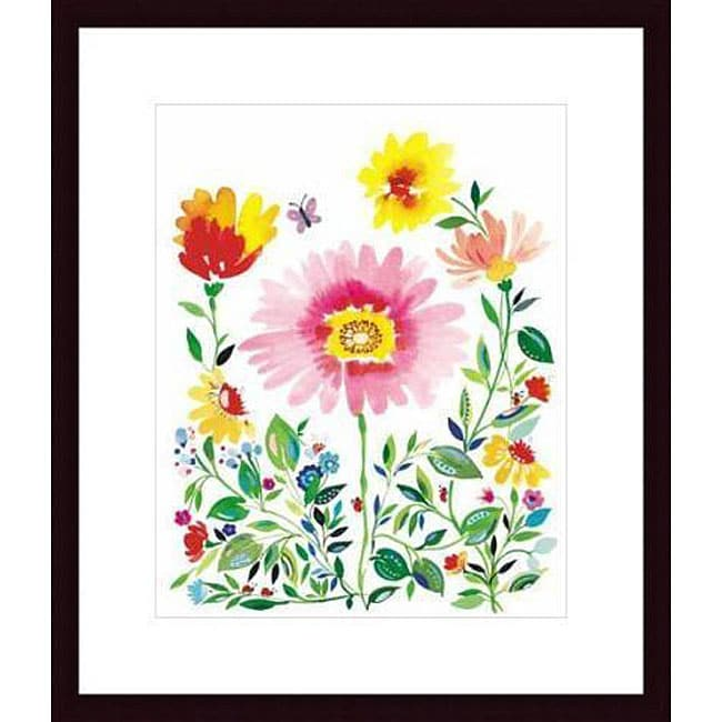 Kim Parker 'Counting in the Garden' Wood Framed Art Print