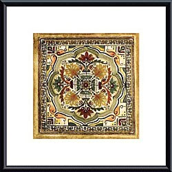 Ruth Franks 'Italian Tile IV' Metal Framed Art Print