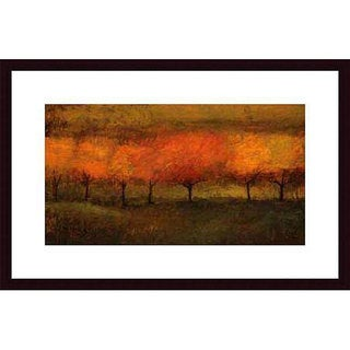 Seth Winegar 'Red Trees I' Wood Framed Art Print