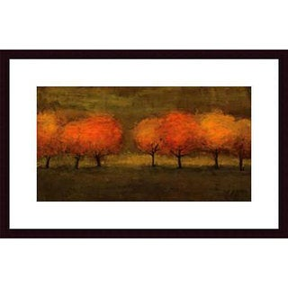Seth Winegar 'Red Trees II' Wood Framed Art Print