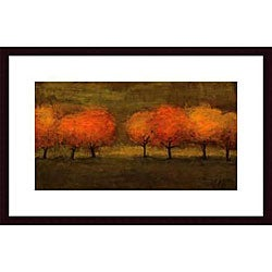 Seth Winegar 'Red Trees II' Wood Framed Art Print