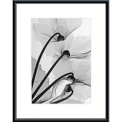 Steven Meyers 'Cyclamen Study 4' Metal Framed Art Print