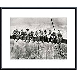 'Lunch Atop a Skyscraper' Metal Framed Art Print