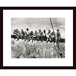'Lunch Atop a Skyscraper' Wood Framed Art Print