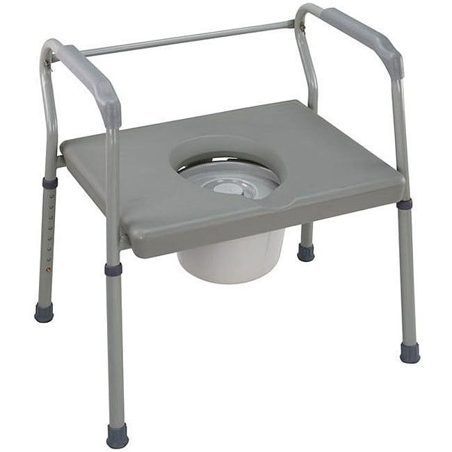 Mabis Heavy-duty Steel (Silver) Commodes with Platform Se...