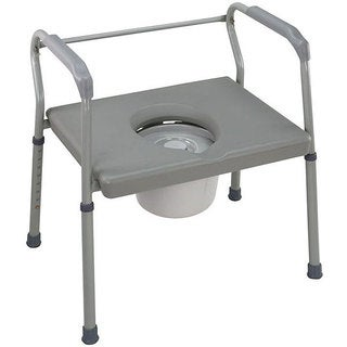 Mabis Heavy-duty Steel Commodes with Platform Seat (Pack of 2)