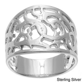 Sterling Essentials Silver Filigree Cigar-style Band|https://ak1.ostkcdn.com/images/products/4121527/P12128518.jpg?impolicy=medium