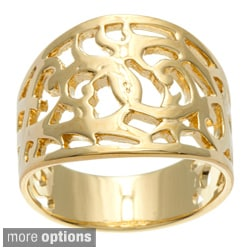 Sterling Essentials Silver Filigree Cigar-style Band