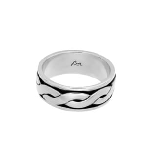 Sterling Essentials Sterling Silver Braided Slider Band