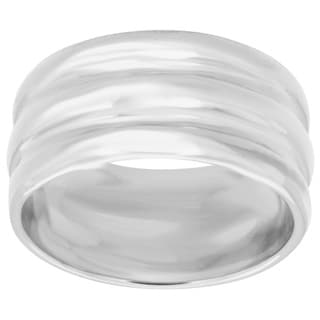 Sterling Essentials Sterling Silver Ridged Band