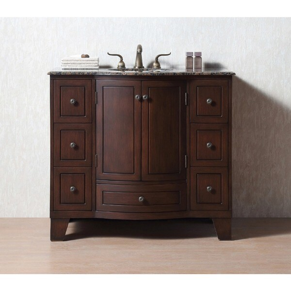 Stufurhome Grand Cheswick 40-inch Single Sink Granite Top ...