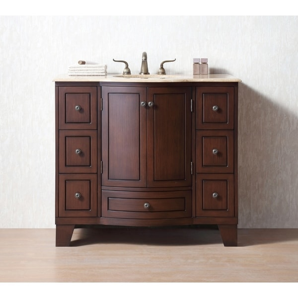 Stufurhome 40 inch Grand Cheswick Single Sink Bathroom Vanity