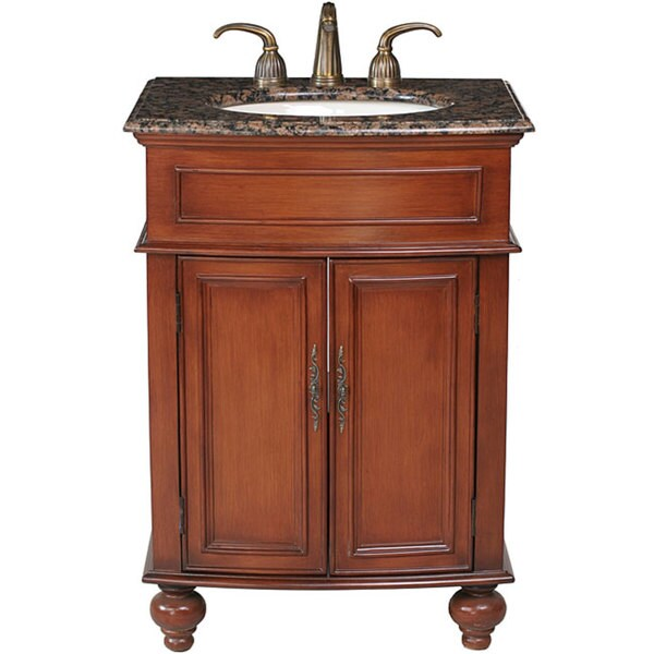 Shop Stufurhome Prince 26 Inch Single Sink Granite Top Vanity Free Shipping Today Overstock