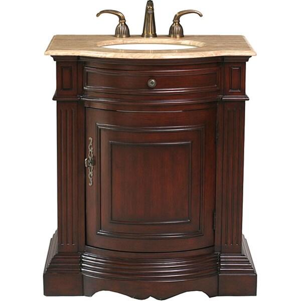 Stufurhome Catherine 30-inch Single Sink Marble Top Vanity