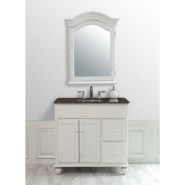Stufurhome Snow White 36 Inch Single Sink Baltic Brown Granite Top Vanity Free Shipping Today