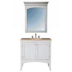 Stufurhome Alyssa 36-inch Single Sink Vanity Set - White