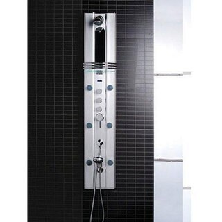 Ariel A112 Aluminum Shower Panel with Thermostatic Faucet