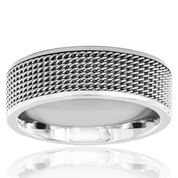 Stainless Steel Men's Mesh Ring