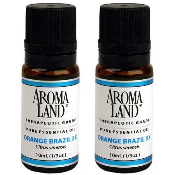 Aromaland 10-ml Orange Brazil 5x Essential Oil (Pack of 2)
